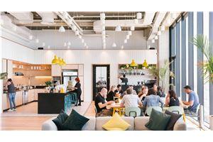 חלל עבודה ווי-וורק מידטאון מנחם בגין Lobby Wework Mid Town בתל אביב